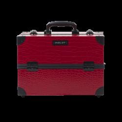 Kosmetikkoffer Mit Krokodilleder Muster Mittelgrösse Rot (KC-PAC01)