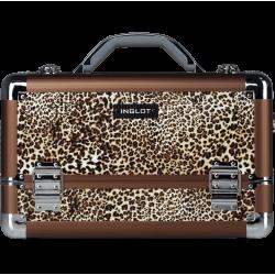 Makeup Case Leopard Leather Pattern (KC-M34)