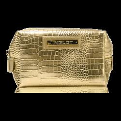 Trousse de toilette dorée, motif peau de crocodile (R24245B) icon