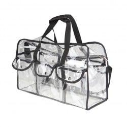 Transparente Kosmetiktasche mit Seitentaschen