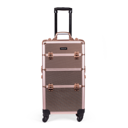 Valise de maquillage or rose (KC-TR002) icon