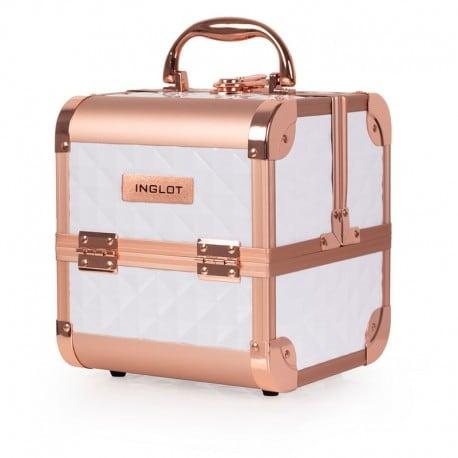 Kufer kosmetyczny diamentowy mini WHITE & ROSE GOLD (MB152M)