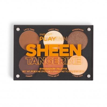 Palette de fards à paupières INGLOT PLAYINN Sheen Tangerine