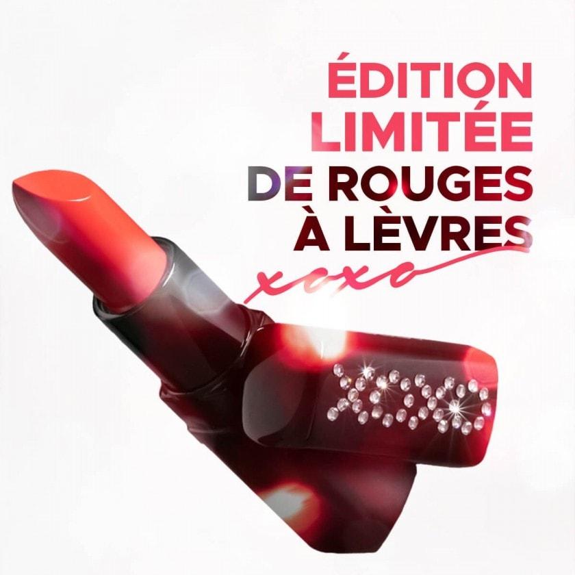Découvrez Rouge à lèvres XOXO en édition limitée avec cristaux Swarovski®